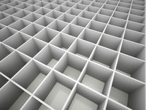 Abstract cubes network Stock Photography