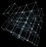 Abstract cubes. Network connection background Royalty Free Stock Photography