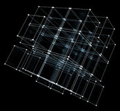Abstract cubes. Network connection background Stock Images