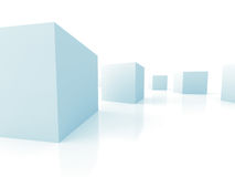 Abstract Cubes Shapes Blocks Background. 3d Render Illustration Royalty Free Stock Images