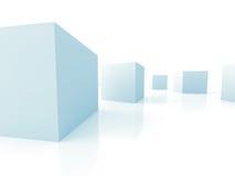 Abstract Cubes Shapes Blocks Background. 3d Render Illustration royalty free illustration