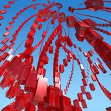 Abstract cubes sky Stock Image