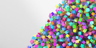 Abstract cubes three dimensional background Royalty Free Stock Photos