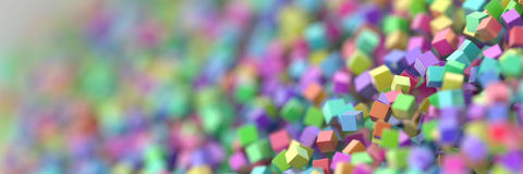 Abstract cubes three dimensional background Royalty Free Stock Photography