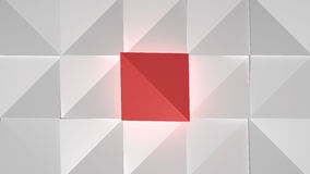 Abstract Cubes White Red Royalty Free Stock Image