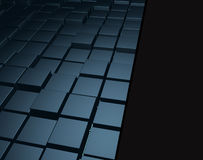 Abstract cubic background-blue. In raster Royalty Free Stock Images