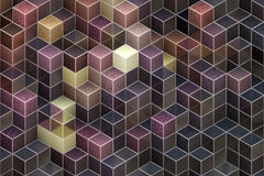 Abstract cubic backgrounds Royalty Free Stock Photos