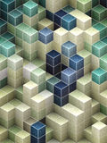 Abstract cubic backgrounds Stock Images