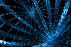 Abstract cubic cog wheel. Available for background Stock Photo