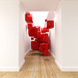 Abstract cubic decor Stock Images
