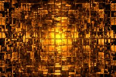 Abstract cubic space. 3D reflective abstract space available for background Royalty Free Stock Image
