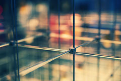 Abstract cubical grid Stock Photos