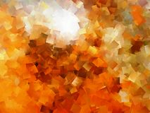 Abstract cubism. Orange and red abstract background cubism pattern Stock Photography