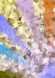 Abstract cubism Stock Image