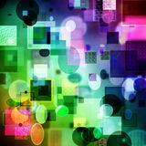 Abstract cubism art. Pattern with textures-background Stock Image