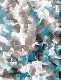 Abstract cubist background - in blue,white and brown Stock Photo