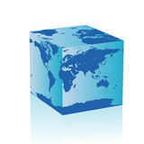 Abstract cuboid earth Stock Photography