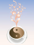 Abstract cup of coffee. Royalty Free Stock Photos
