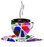 Abstract cup of tea Stock Photo