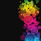 Abstract curl colorful background. Royalty Free Stock Photos