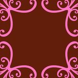 Abstract Curled Frame Royalty Free Stock Image