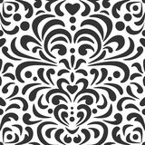 Abstract curls pattern in black and white. Royalty Free Stock Images