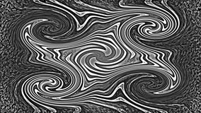 Abstract curly background. Abstract black and white wavy background Stock Photo