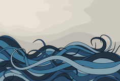 Abstract curly wave background Royalty Free Stock Photo