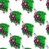 Abstract currants triangles on a white background, seamless pattern Stock Photography