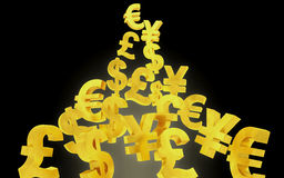 Abstract currency background Royalty Free Stock Image