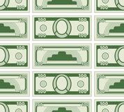 Abstract currency pattern. Seamless pattern of the abstract paper money Stock Images