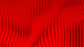 Red Curtains effect Bright background Stock Image