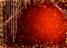 Abstract curtains of holiday garland Royalty Free Stock Image