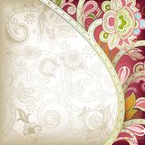 Abstract Curve. Illustration of abstract floral background in asia style Royalty Free Stock Photos