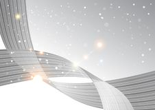 Abstract curve background, grey template vector illustration