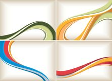 Abstract Curve Background Set stock illustration