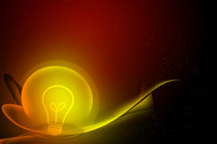 Abstract curve and bulb dark background Royalty Free Stock Photo