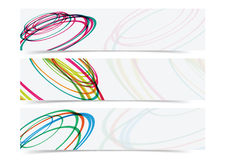 Abstract curve circle banner header background. In minimal style Stock Photos