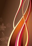 Abstract Curve and Floral Stock Image