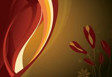 Abstract Curve and Floral Stock Photography