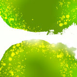 Abstract curve form green colors drawing background Stock Photo