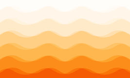 Abstract curve orange tone background stock image