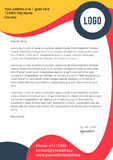 Abstract curve shapes modern letterhead template Stock Image