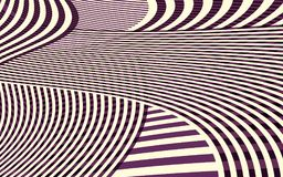Abstract Curve Stripe Pattern Stock Photo