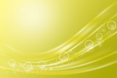 Abstract curve yellow background Royalty Free Stock Photos