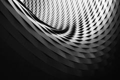 Abstract curved architecture