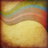 Abstract curved bands stock image
