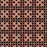 Abstract curved geometric seamless pattern. Vector background Royalty Free Stock Photos