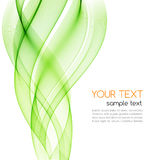 Abstract curved lines background. Template brochure design Royalty Free Stock Photos