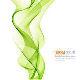 Abstract curved lines background. Template brochure design Stock Photography